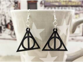 Harry Potter A halál ereklyéi bakelit fülbevaló