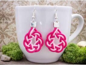 Rózsaszín mámor paracord fülbevaló