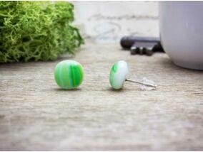 Zöldike fülbevaló üveg