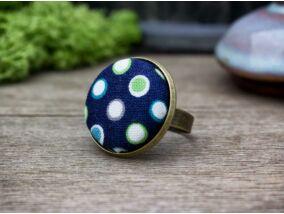 Mélytengeri buborékok textil gombos gyűrű