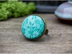 Zöld dzsungel textil gombos gyűrű