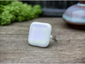 Fehér hó üveg gyűrű