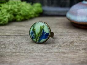 Búzavirág műgyanta gyűrű