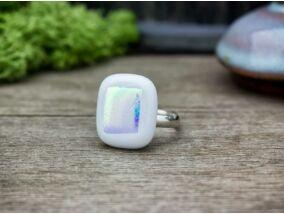 Szivárvány üveg gyűrű