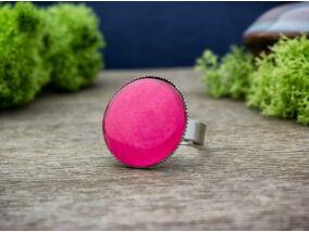 Üveglencsés pink gyűrű