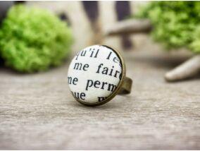 Csodálatos szavak textil gombos gyűrű