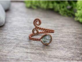 Mohaachát réz drót gyűrű