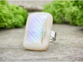 Barackvirág fénye üveg gyűrű