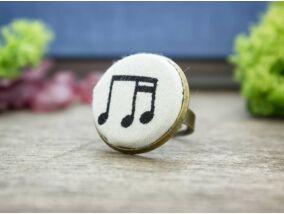 Hangjegyek textil gombos gyűrű