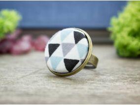 Retro textil gombos gyűrű