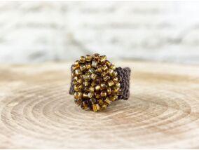 Horgolt gyöngyös gyűrű