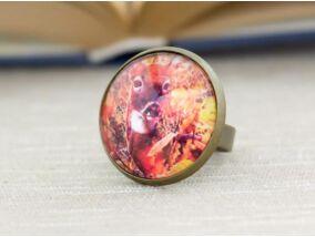 Üveglencsés őz gyűrű