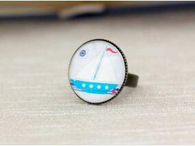 Üveglencsés vitrolás hatású gyűrű