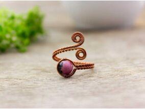 Rodonit réz drót gyűrű