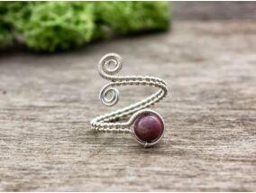 Rodonit drót gyűrű