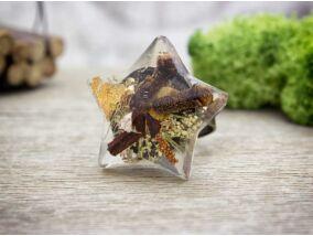 Fűszeres varázslat műgyanta préselt virágos gyűrű