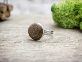 Fahéj és aranypor műgyanta gyűrű