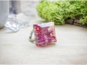 Ravasz tavasz öntött műgyanta gyűrű