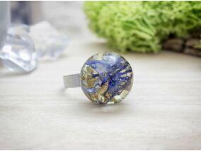 Búzavirág ünneplőben műgyanta gyűrű
