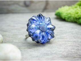 Búzavirág tallér műgyanta gyűrű