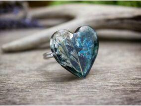 Műgyanta türkiz tavaszi gyűrű