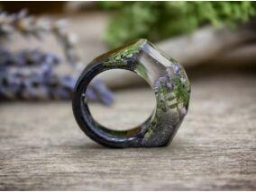 Intarzia öntött műgyanta gyűrű