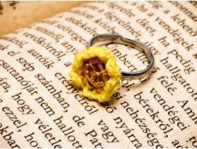 Horgolt sárga gyerek gyűrű