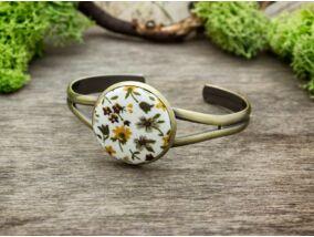 Őszi virágos mező textil gombos karperec