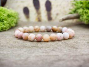 Boldog álmok pink opál ásvány karkötő