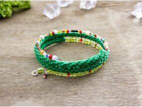 Zöld színes memóriadrót karkötő
