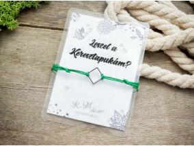 Leszel a Keresztapukám zöld kívánság karkötő
