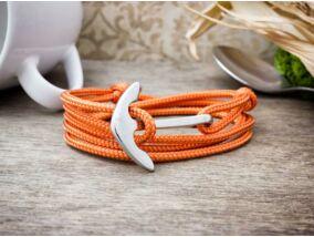 Narancs horizont acél horgony paracord karkötő