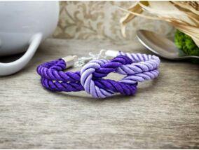 Vitorlát feszíts lila színű paracord karkötő