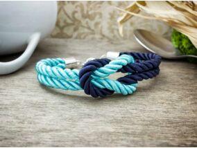 Vitorlát feszíts kék és türkiz színű paracord karkötő