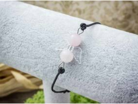 Szerelem angyala rózsakvarc microcord karkötő