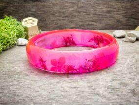 Műgyanta rózsaszínű tavasz karperec