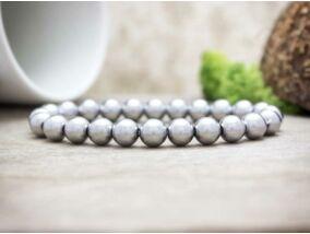 Ezüst hematit ásvány karkötő