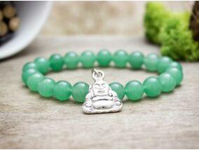 Aventurin karkötő Buddha medállal