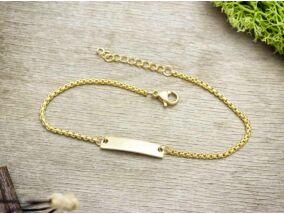 Arany színű gravírozható acél karkötő