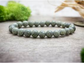 Zöld csipke kő ásvány karkötő