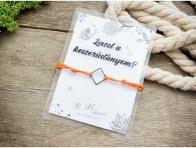 Leszel a koszorúslányom narancssárga kívánság karkötő