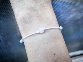 Fehér pöttöm szerelem rózsakvarc ásvány karkötő