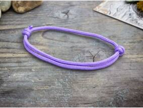 Találékonyság lila paracord karkötő