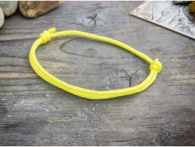 Tudatosság sárga paracord karkötő