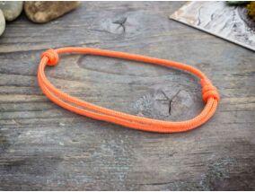 Megvilágosodás narancssárga paracord karkötő