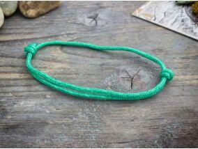 Újrakezdés zöld paracord karkötő