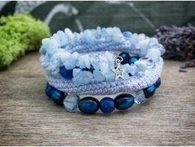 Kék csillagos memóriadrót karkötő
