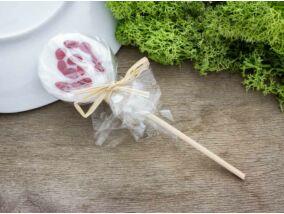 Spirálos cukor nyalóka üveg medál
