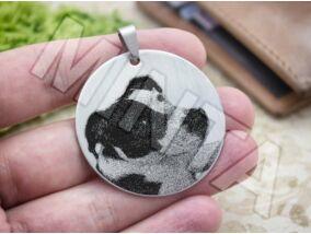 Fotógravírozás acél kör medál