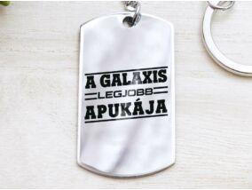 A galaxis legjobb apukája acél medálos kulcstartó